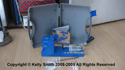 Kreg Pocket Hole Jig for glueless wood joinery, Photo Copyright Kelly Smith