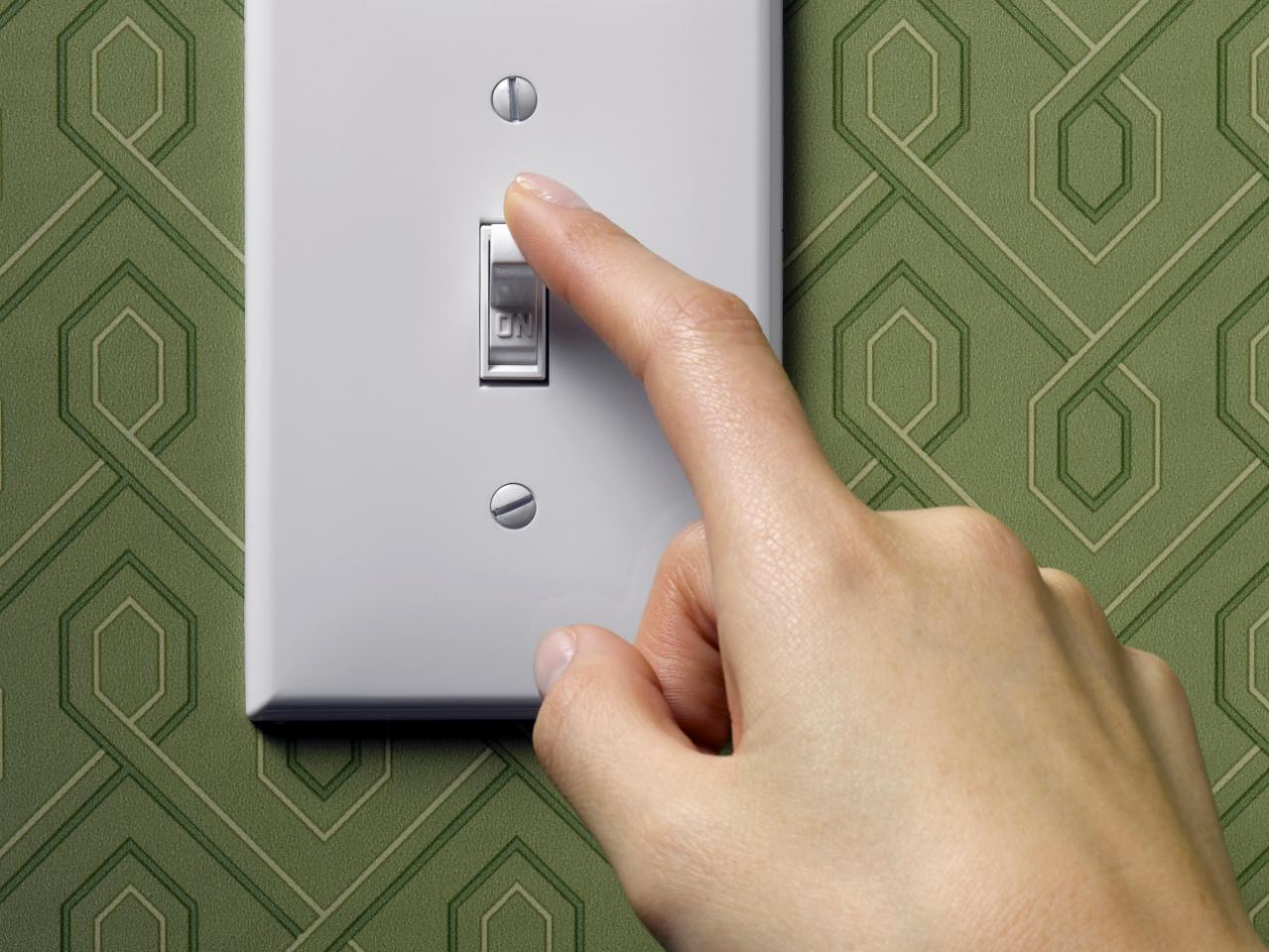 A light switch with finger