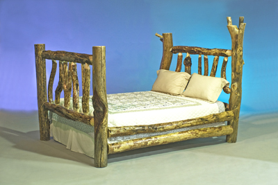 A Log furniture queen bed; photo courtesy 2987bill