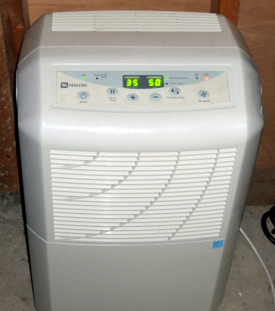 A Maytag dehumidifier; photo courtesy Dchristle