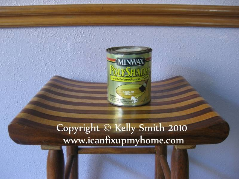 Minwax stain and polyurethane; photo courtesy Kelly Smith
