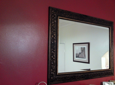 A mirror to open up the room; photo courtesy Josh Andrews