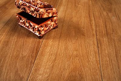 An oak hardwood floor; photo courtesy Wood and Beyond