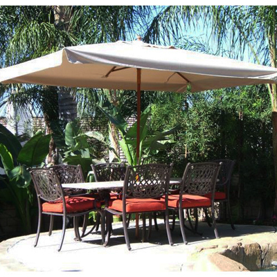 A patio umbrella; photo courtesy John Garland