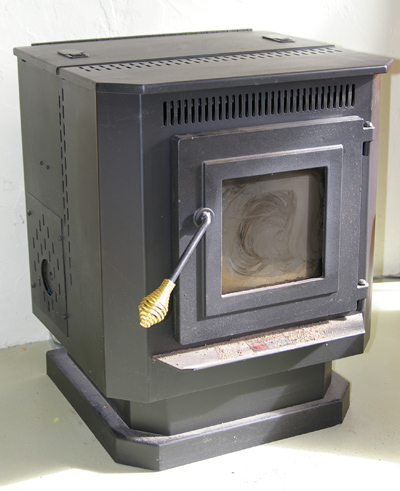 A compact pellet stove, photo courtesy Hustvedt