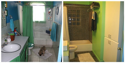 A remodeled bathroom; photo courtesy Michelle Rebecca