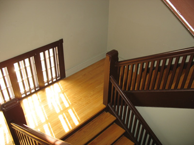 A residential staircase; photo courtesy Drouu