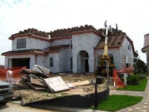 Roof tile installation; photo courtesy Sarah Harris
