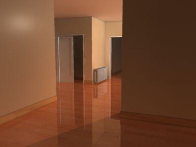 Empty rooms with hardwood floors