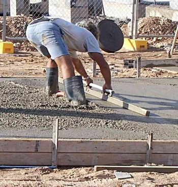 Screeding a Concrete Slab