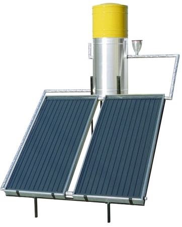 Solar water heater system with collectors