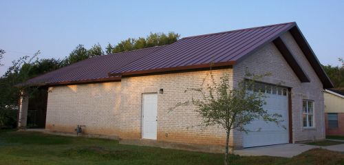 A steel metal roof for durability; photo © 2011 KSmith Media, LLC