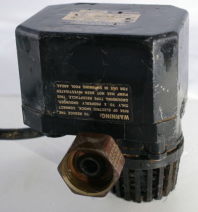 A small AC sump pump; photo courtesy Hustvedt