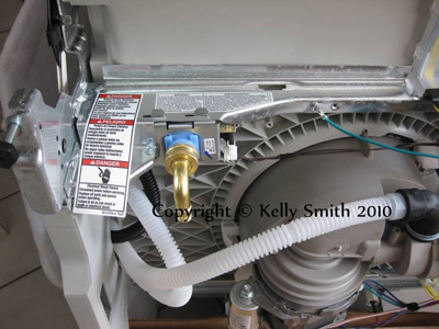 Whirlpool dishwasher fill valve and motor; photo copyright KSmith Media,LLC