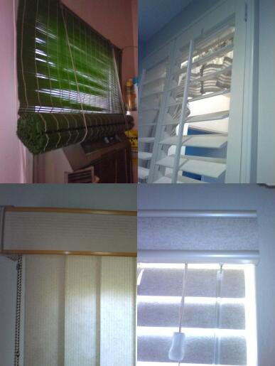 Various types of window blinds; image courtesy Chuck Marean