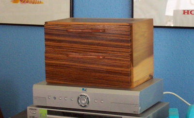A box made of zebrawood and poplar.