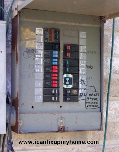 A Circuit Breaker Box; photo courtesy and © Kelly Smith